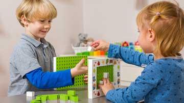 Купить наборы Hubelino® на 100% совместимые со строительными блоками от других производителей (LEGO® DUPLO®) изготовленые в Германии по самым высоким стандартам качества