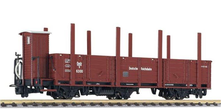 LILIPUT 245405 Вагон 3-осный со стойками и кабиной управления (Omlr/s6300), H0e, II, DRB