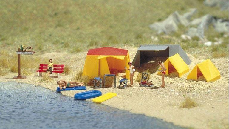 BUSCH 6026 Небольшой палаточный лагерь (набор), 1:87