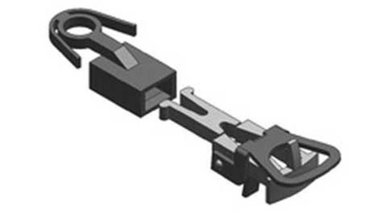 LILIPUT 939120 Накиданная сцепка-адаптер (2 шт.) с NEM шахтой, H0