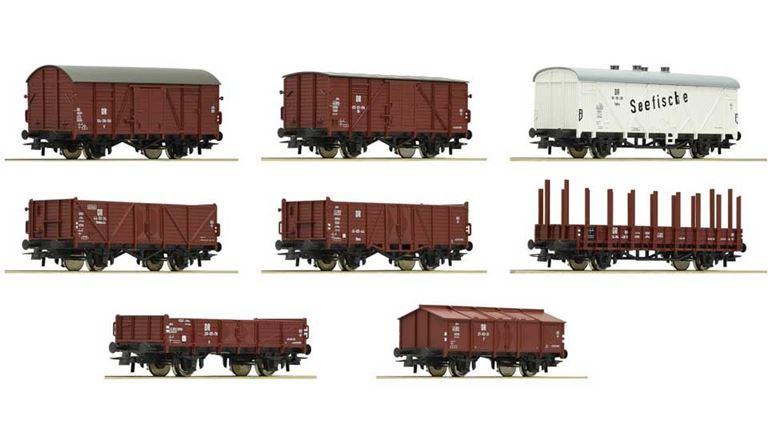 ROCO 67127 Набор грузовых вагонов (8 шт.), H0, III, DR