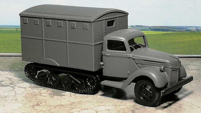 RUSAM-SDKFZ-3A-31-910 Автомобиль полугусеничный с будкой, 1:87, II, Wehrmacht