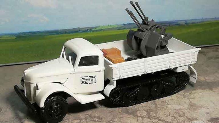 RUSAM-SDKFZ-3-19-903 Автомобиль полугусеничный с зенитным орудием (4 ствола) «WH», 1:87, II, Wehrmacht