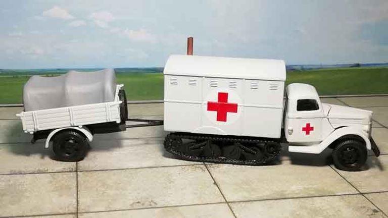 RUSAM-SDKFZ-3A-33-003 Автомобиль санитарный с прицепом, 1:87, II, Wehrmacht