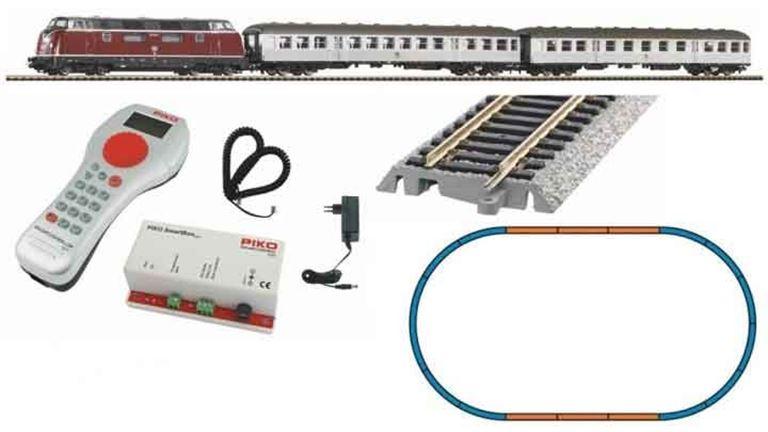 PIKO 59020 Цифровой стартовый набор «Пассажирский состав с тепловозом BR 220», H0, IV, DB, PIKO SmartControl®