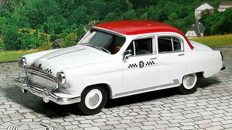 HERPA 049634 Автомобиль такси ГАЗ-21 «Волга», 1:87, 1956—1970, СССР