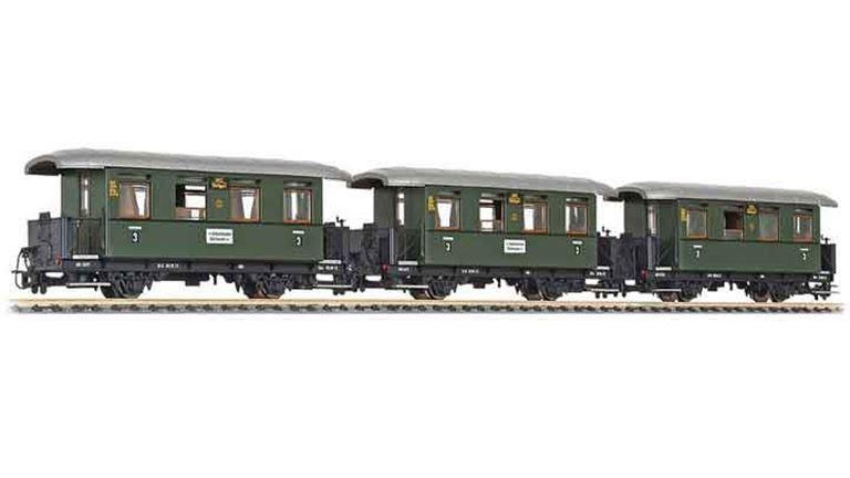LILIPUT 340500 Пассажирский состав «Öchsle» (3 вагона), H0e, VI, Öchsle