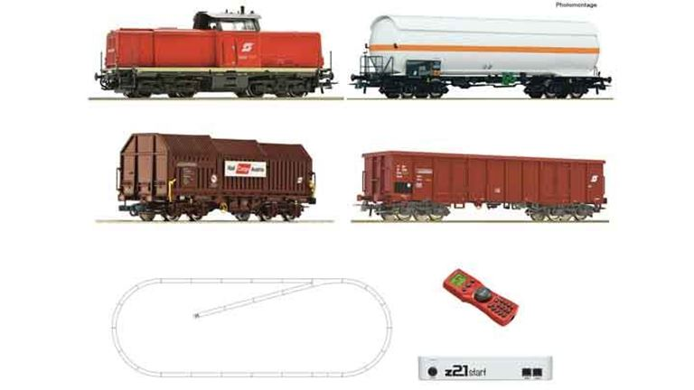ROCO 51322 Цифровой стартовый набор z21 «Грузовой поезд с тепловозом 2048», H0, V, ÖBB