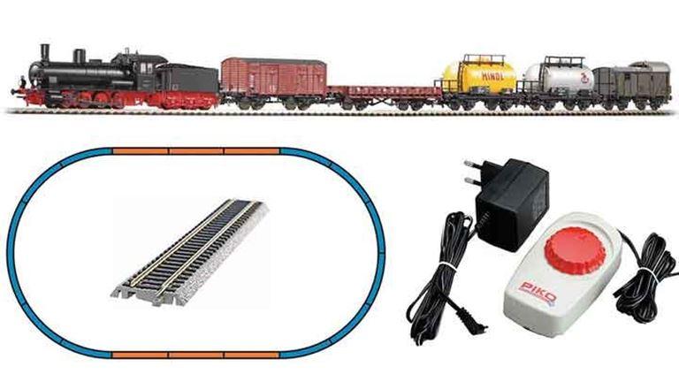 PIKO 57123 Аналоговый стартовый набор «Грузовой поезд с паровозом G7.1», H0, III, DB