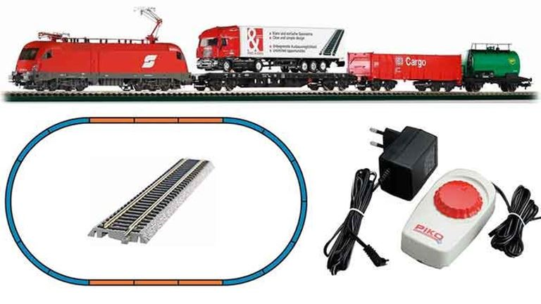 PIKO 57177 Аналоговый стартовый набор «Грузовой поезд с электровозом Taurus», H0, V, ÖBB