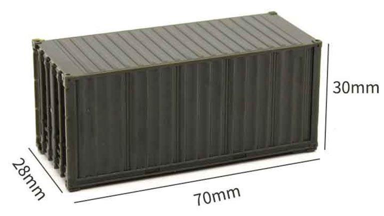 CMOD CON08720 brown 20 футовый контейнер (коричневый), 1:87