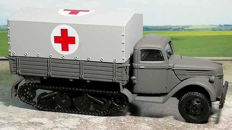 RUSAM-SDKFZ-3-15-910 Автомобиль полугусеничный санитарный, 1:87, II, Wehrmacht
