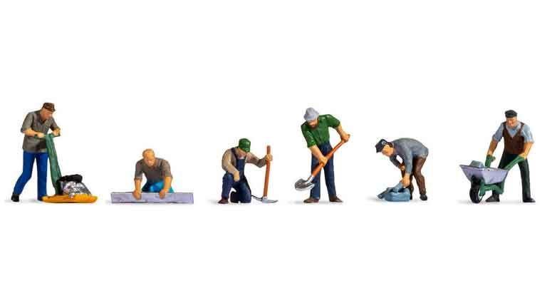 NOCH 15112 Дорожные рабочие (6 фигурок), 1:87