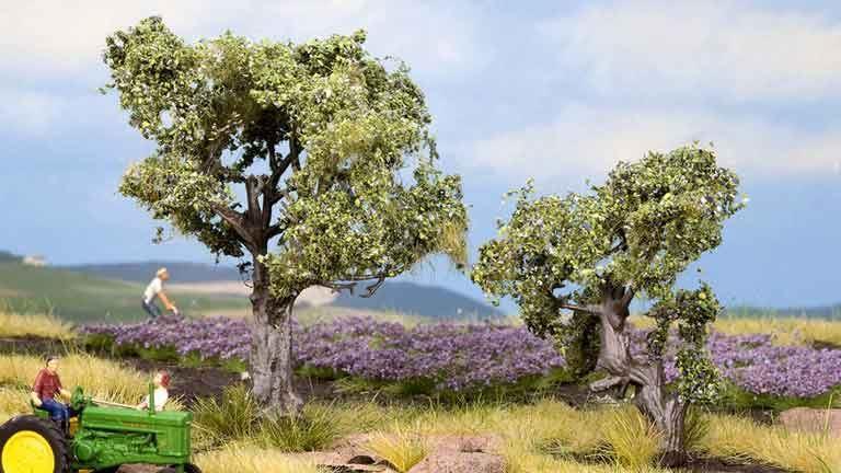 NOCH 21995 Оливковые деревья ~60 и 90мм (2 шт.), 1:72—1:100