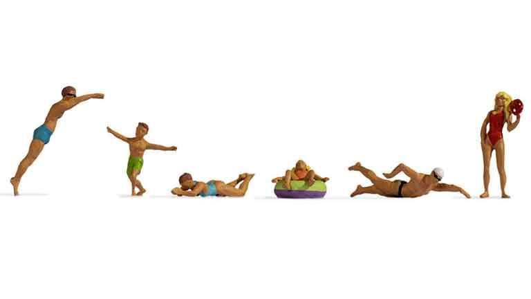 NOCH 15849 Пловцы, купающиеся и фигуры на воде, 1:87