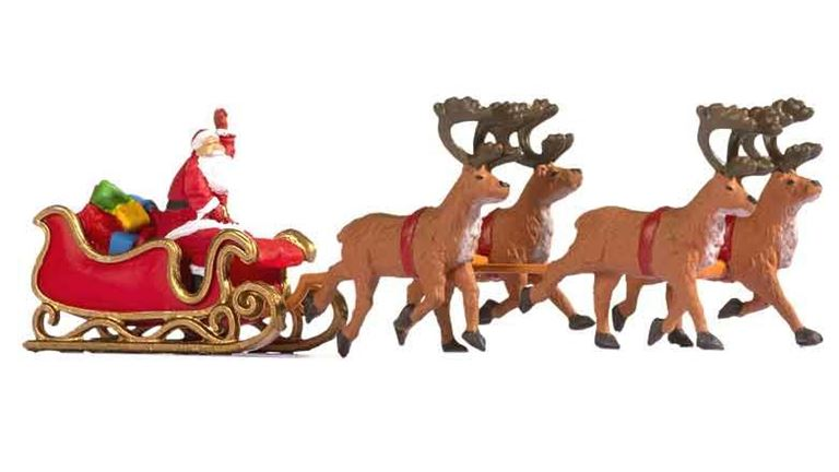 NOCH 15924 Дед Мороз с санями и оленями, 1:87