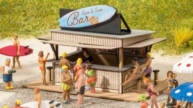 NOCH 14260 Пляжный бар, 1:87, Laser-Cut