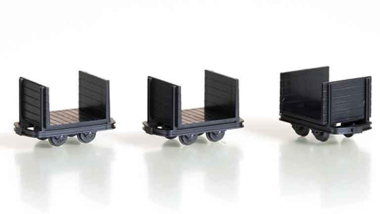 AUHAGEN 41704 Платформы с боковыми бортами  (3 шт.), H0